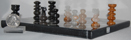 Image of mexican onyx chess set, small