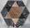 Image of mexican onyx chinese checker board with marbles, large