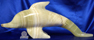 Image of mexican onyx dolphin figure, 16 inch long