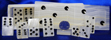 Image of mexican onyx domino set, white