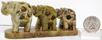 Image of soapstone elephant train 3 piece